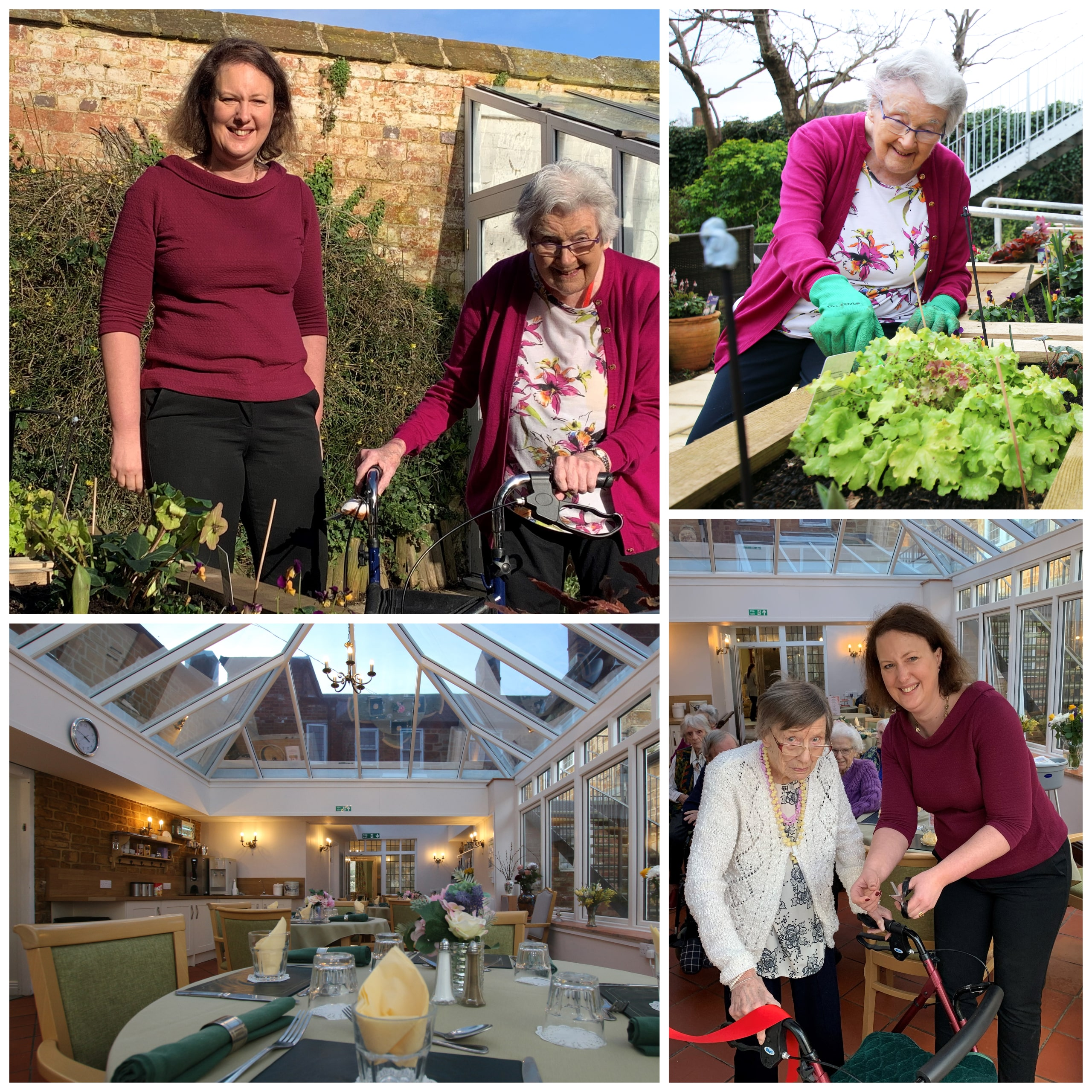 Residents Joan Hearmon, 99, and Edna Sewell, 94, join Victoria Prentis, MP for Banbury, on a tour of the Featherton House refurbishments.