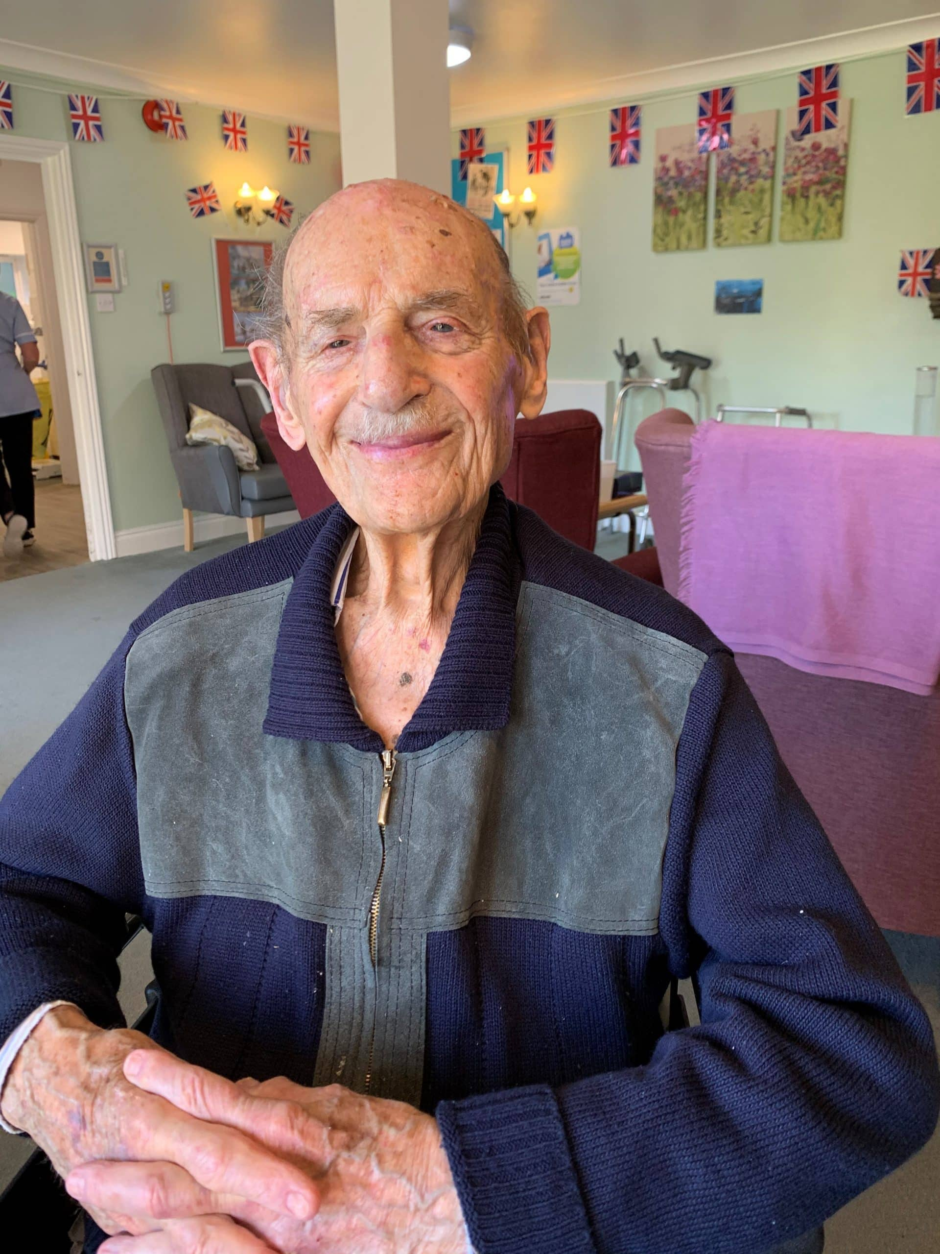 Len Goldman, resident at Patcham Nursing Home