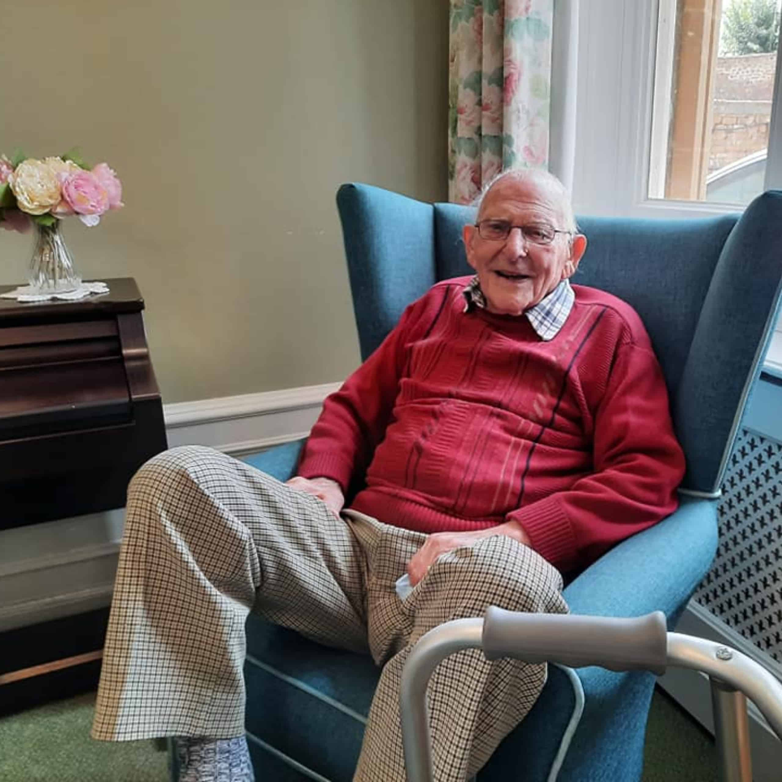 Geoffrey Hillman, resident of Featherton House Care Home in Deddington, has been sharing the story of his time in India.