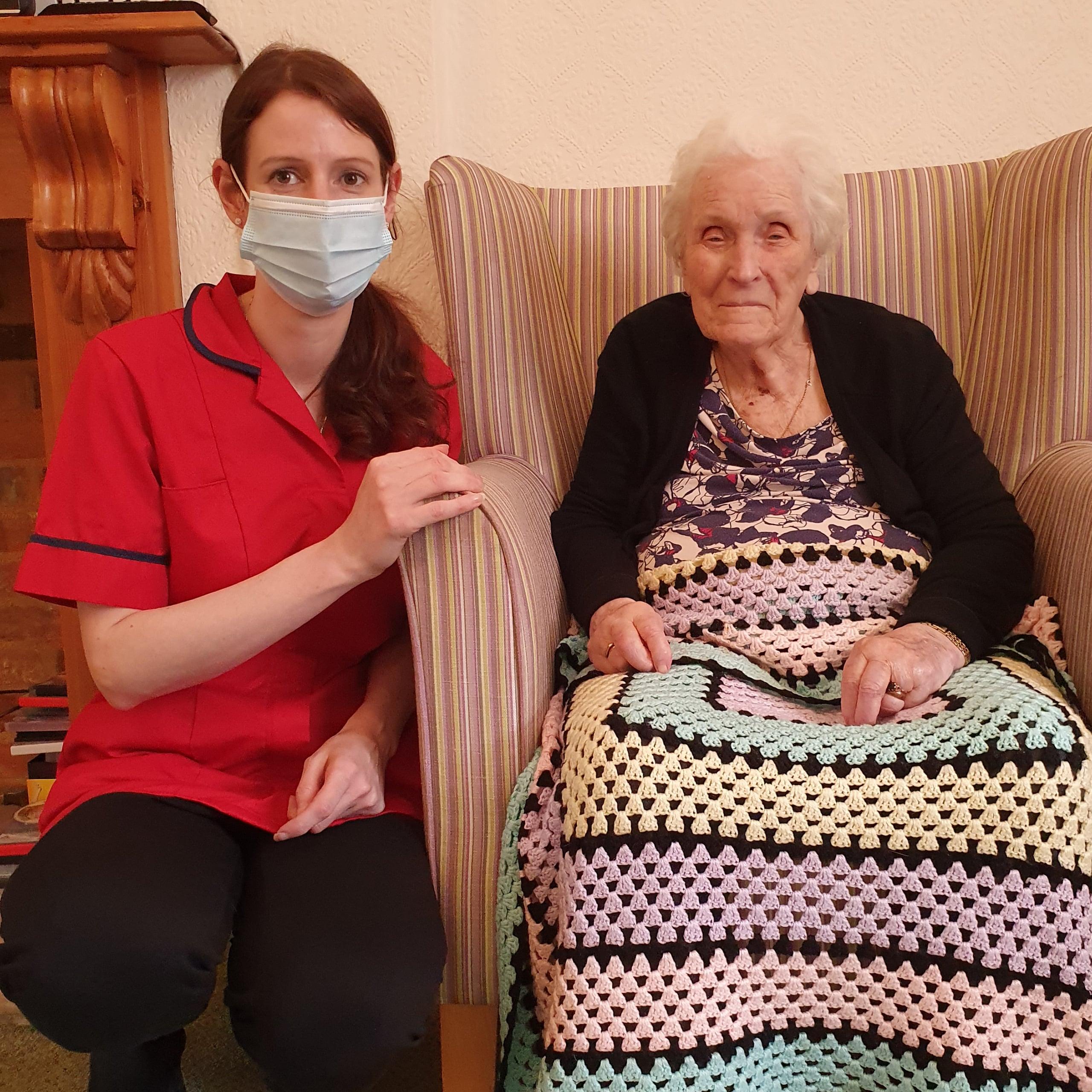 Westerham Place Care Home Senior Carer Paula Mahmoodi celebrates 20 years' service.