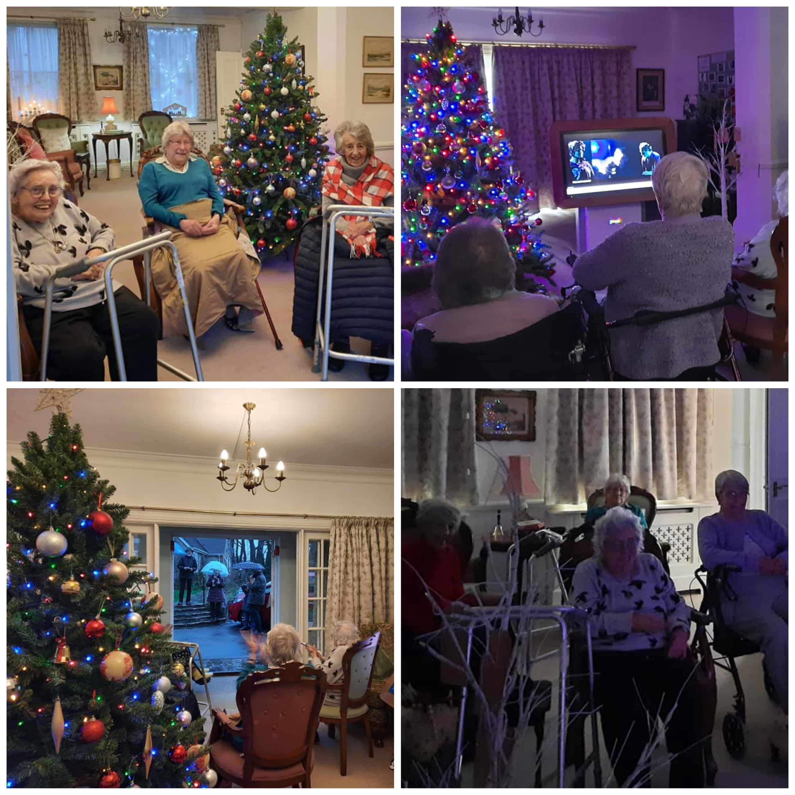 The residents of Wren House Care Home in Warminster enjoy socially-distanced and virtual Christmas conerts.