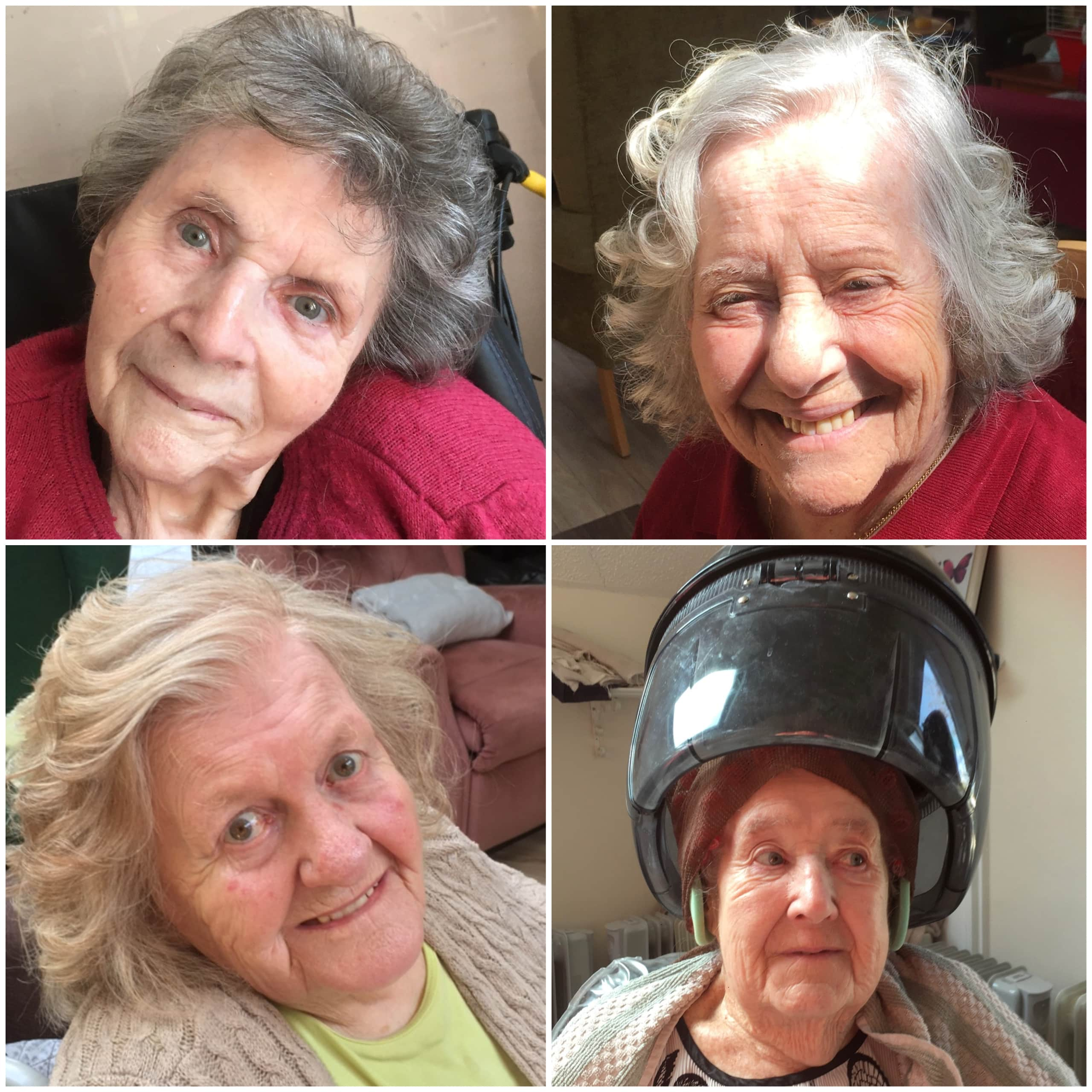 Residents at Epsom-based care home Linden House have their first appointments with the hairdresser for 12 months in the in-house hair salon.