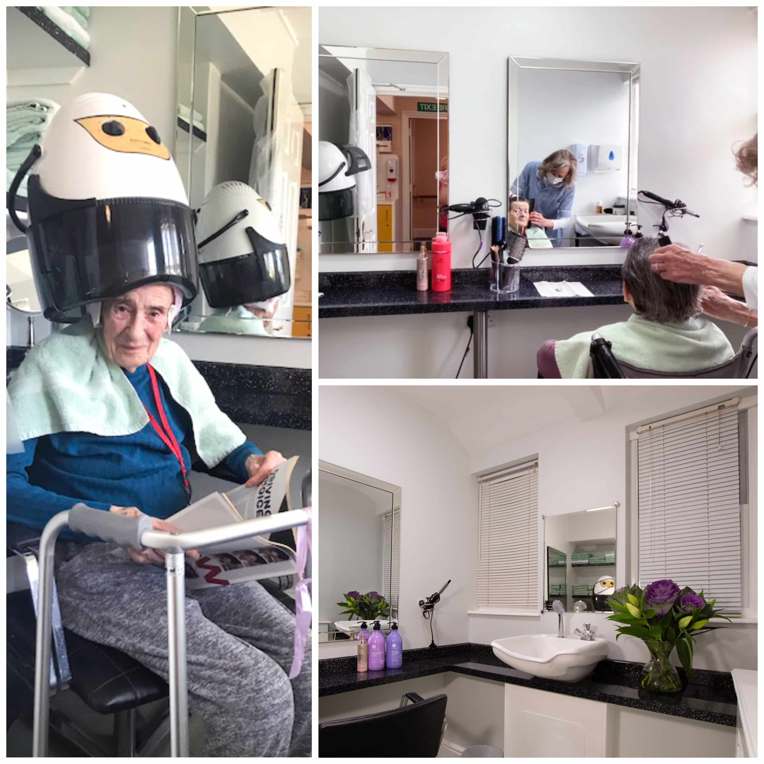 Deddington care home residents enjoy a cut and blow dry from their hairdresser in Featherton House's new-look salon.
